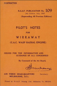 CAC Wirraway Pilot's Notes RAAF Publication No. 109