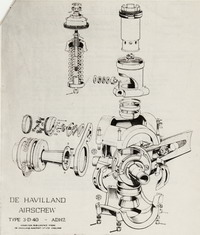 Exploded view of the De Havilland ADH2 constant speed hub