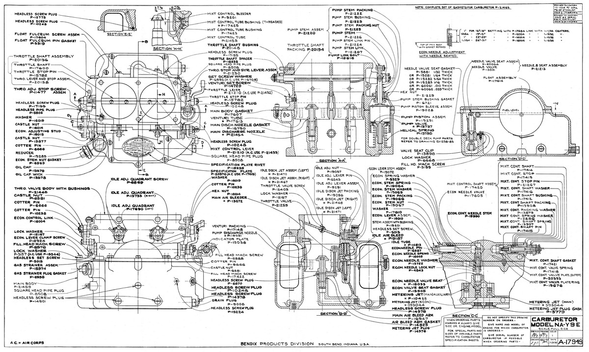 Db Design Bureau Cac Wirraway Technical Information Parts Diagram Moreover Simple Car Engine Besides Labeled Stromberg Na Y9e Carburettor Schematic Showing All Numbered