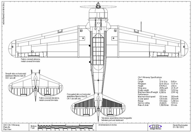 Plate 4b CAC Wirraway CA-1 plan view